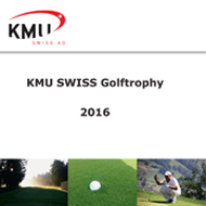 KMU Swiss Golftrophy 2016 &#40;CH&#41; <br> Caligari Corporate Logo Programm